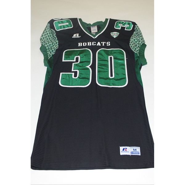 Photo of # 30 - Official OHIO BOBCATS Game Worn Football Jersey (2011) - SIZE MEDIUM