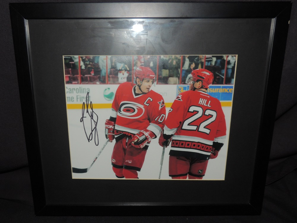 Ron Francis #10 Autographed, Framed Photo
