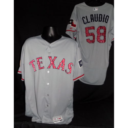 Alex Claudio 2017 Game-Used Stars and Stripes Jersey