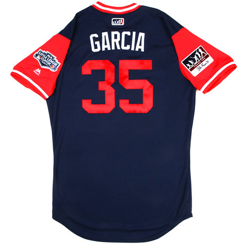 """Photo of St. Louis Cardinals Game-Used Little League Classic Jersey -  Greg """"Garcia"""" Garcia #35"""