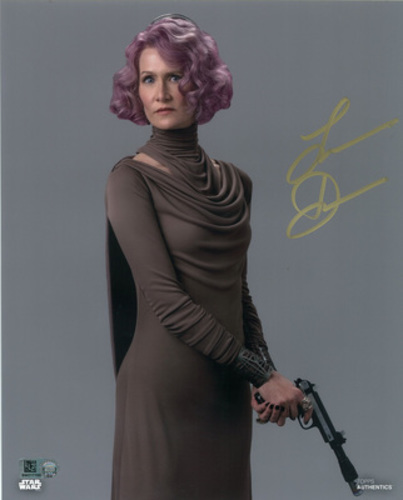 Laura Dern as Vice Admiral Holdo Autographed in Gold Ink 8x10 Photo