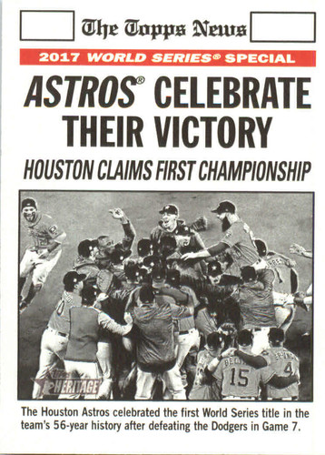 Photo of 2018 Topps Heritage #169 Astros Celebration WS HL