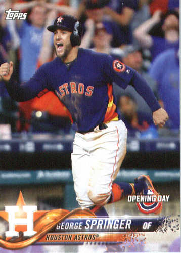 Photo of 2018 Topps Opening Day #48 George Springer