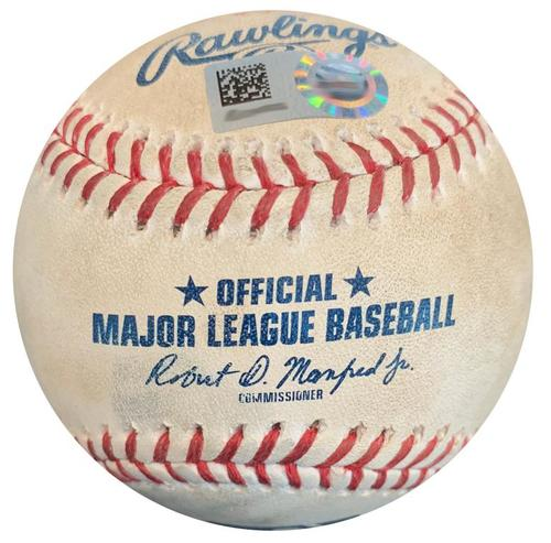 Photo of Game-Used Baseball from Pirates vs. Rays on 6/29/17 - Archer to Harrison, Single