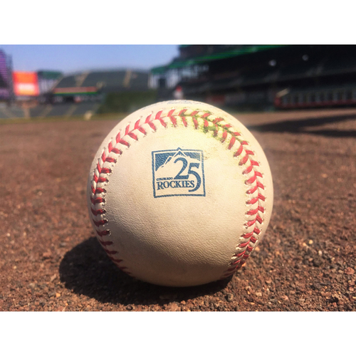 Photo of Colorado Rockies Game-Used Baseball - Marquez v. Hechavarria - Strikes Out Swinging - August 8, 2018