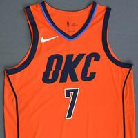 Timothe Luwawu-Cabarrot - Oklahoma City Thunder - Game-Worn Earned Statement Edition Jersey - Dressed Did Not Play - 2018-19 Season