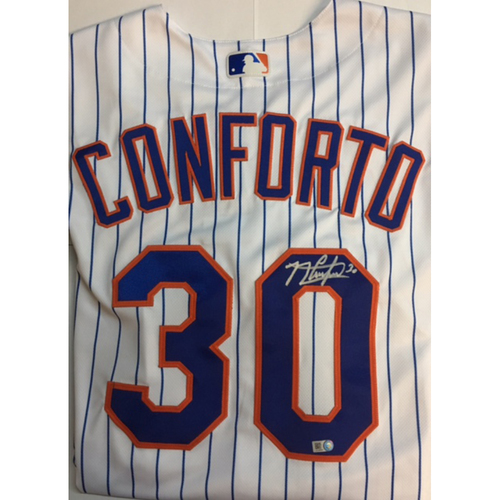 Photo of Michael Conforto Autographed Authentic Mets Jersey