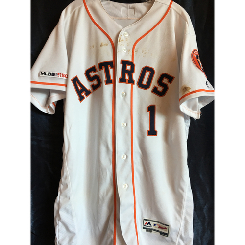 Photo of Carlos Correa 2019 Game-Used Jersey (Size 46) - 4/8 vs. NYY