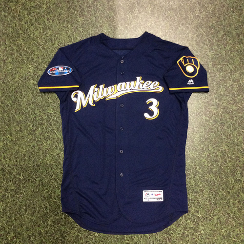 Orlando Arcia 2018 Game-Used Postseason Jersey - NLCS Game 3