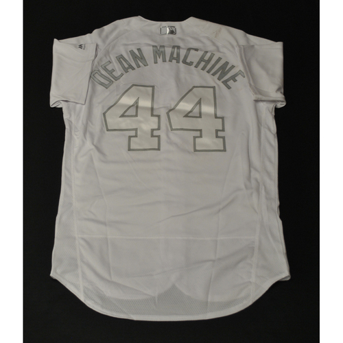 "Photo of Austin ""DEAN MACHINE"" Dean Miami Marlins Game-Used 2019 Players' Weekend Jersey"