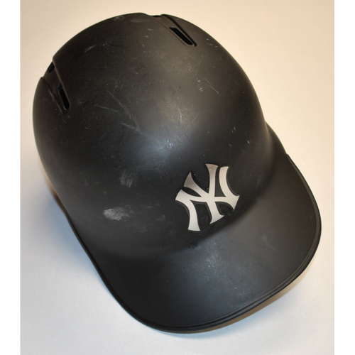 "Photo of DJ ""BIG FUNDY"" LeMahieu New York Yankees Game-Used 2019 Players' Weekend Helmet"