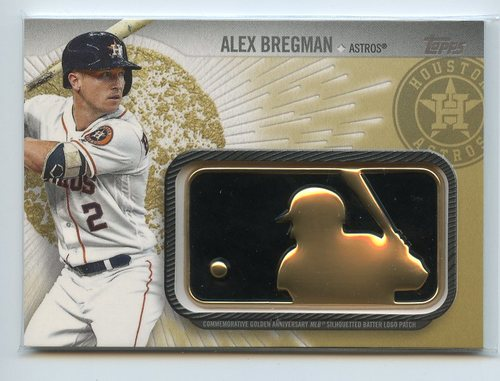 Photo of 2019 Topps MLB Logo Golden Anniversary Commemorative Patches Gold #GAPAB Alex Bregman