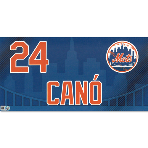 Photo of Robinson Cano #24 - Game Used Locker Nameplate - Mets vs. Nationals - 4/4/19