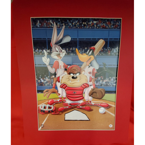 Photo of Matted Looney Tunes Print Red - 16x20