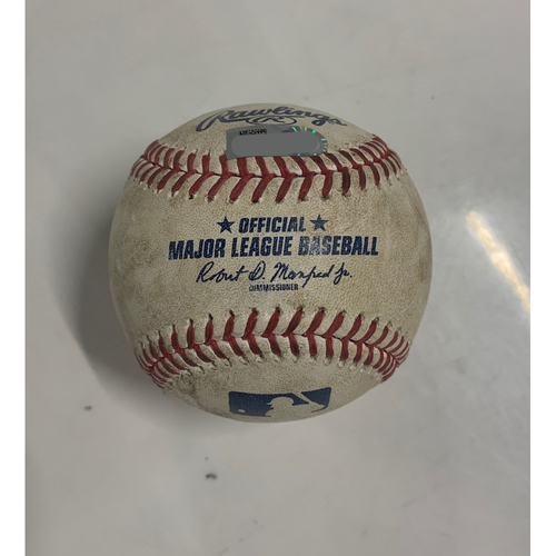 Photo of Game Used Baseball - 8/23/20 - Batter: Niko Goodrum, Pitcher: Carlos Carrasco - Home Run