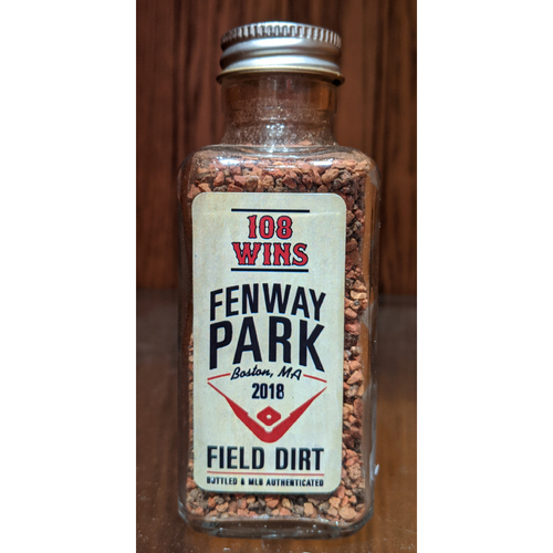 Photo of 108 Wins Record Fenway Park Game Used Dirt Bottle