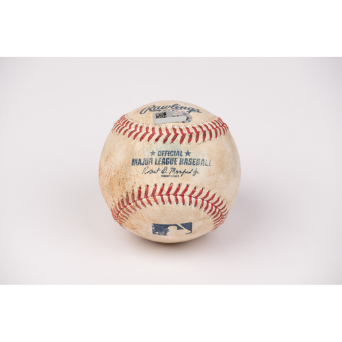 Photo of Game Used Baseball: Pitcher: Marco Gonzales, Batter: Jo Adell - Strike Out - Bot 5 - 8-31-2020 vs. SEA