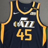 Donovan Mitchell - Utah Jazz - Kia NBA Tip-Off 2020 - Game-Worn Icon Edition Jersey - Scored 20 Points