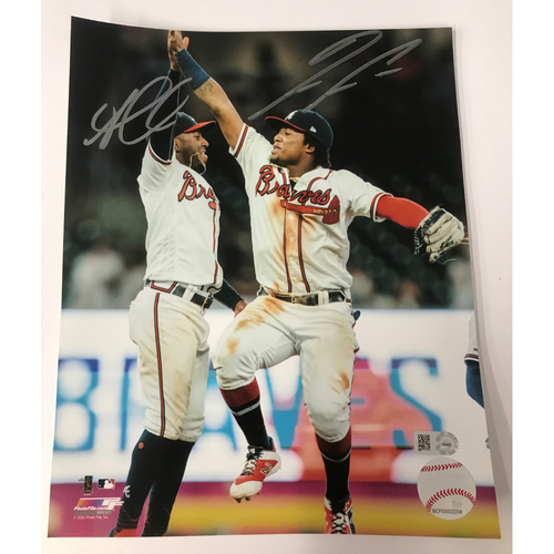 Ronald Acuna Jr. and Ozzie Albies Photo
