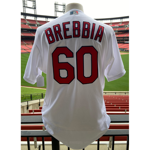 Cardinals Authentics: Team Issued John Brebbia Home White Jersey