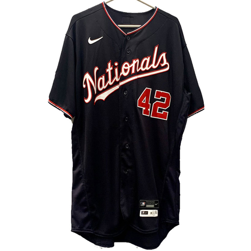 Photo of Joe Ross - Jackie Robinson Day Autographed Game Worn Jersey - Size 46
