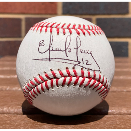 Photo of Eddie Perez Autographed Baseball - NOT MLB Authenticated, COA Included