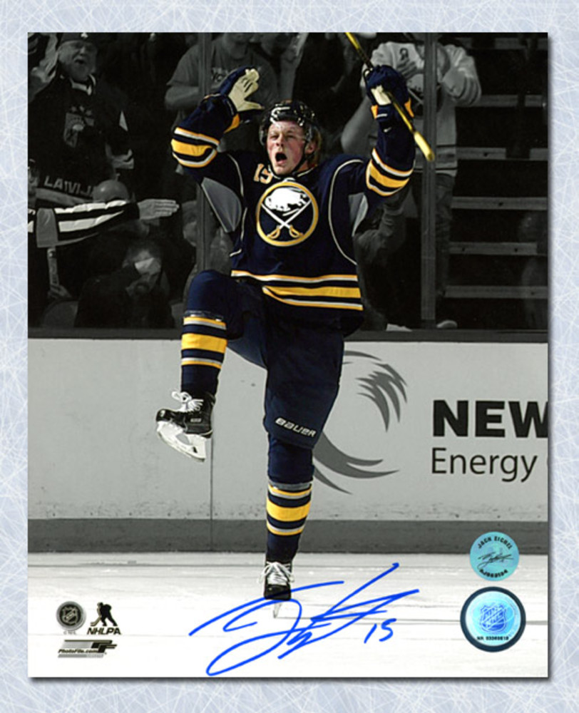 Jack Eichel Buffalo Sabres Autographed First NHL Game & Goal 8x10 Photo