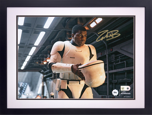 John Boyega as FN-2187 on the Finalizer Autographed in Gold Ink 8x10 Framed Photo