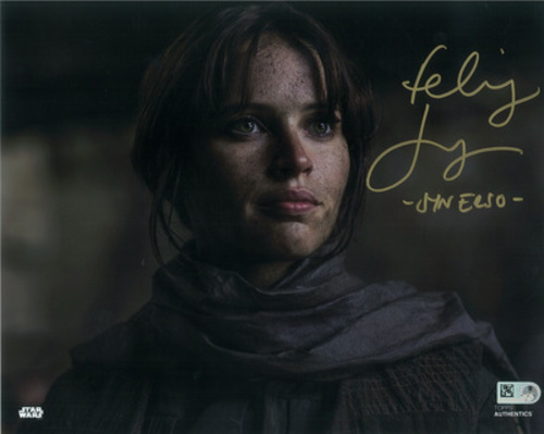 Felicity Jones as Jyn Erso 8x10 Autographed Inscribed