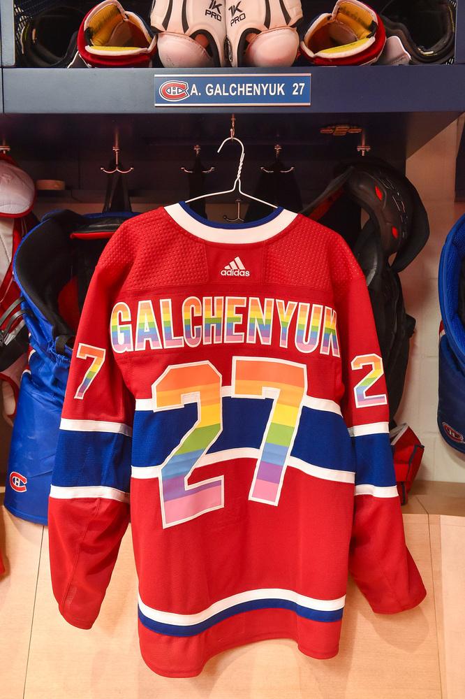 watch a884f 2f6b5 27 Alex Galchenyuk Warm-Up Worn and Autographed Rainbow ...