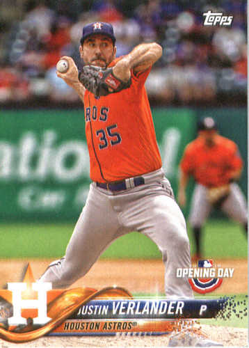 Photo of 2018 Topps Opening Day #52 Justin Verlander