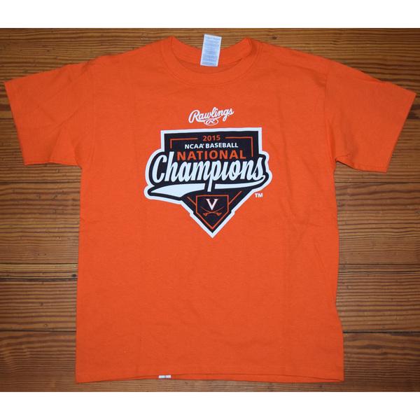 Photo of University of Virginia Baseball 2015 National Championship T-Shirt - Size YS