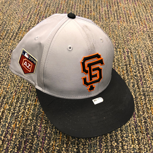 Photo of 2018 San Francisco Giants - 2018 Team Issued Gray Spring Training Cap - #16 Austin Jackson