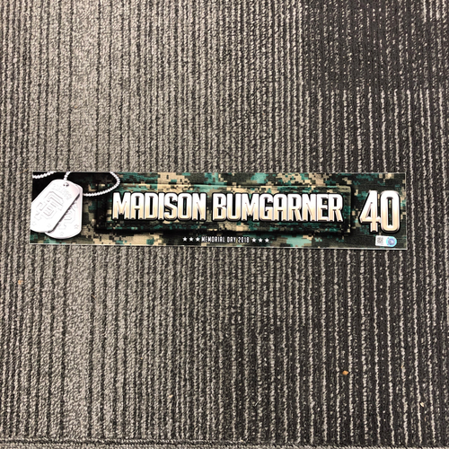 Photo of 2018 Memorial Day Locker Tag - #40 Madison Bumgarner