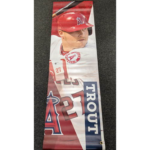 Mike Trout Team-Issued Banner