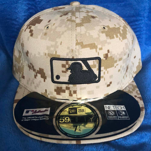 Photo of UMPS CARE AUCTION: MLB Specialty Tan Camo Umpire Plate Cap, Size 7 1/4