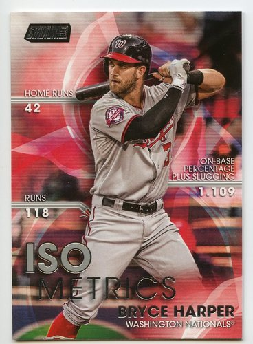Photo of 2016 Stadium Club ISOmetrics #I11 Bryce Harper