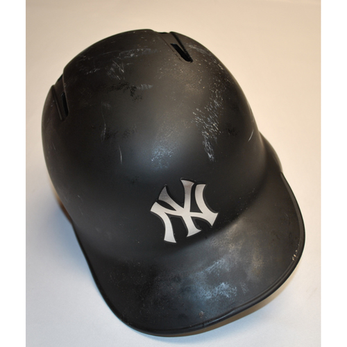 "Photo of Cameron ""SLIM"" Maybin New York Yankees Game-Used 2019 Players' Weekend Helmet"