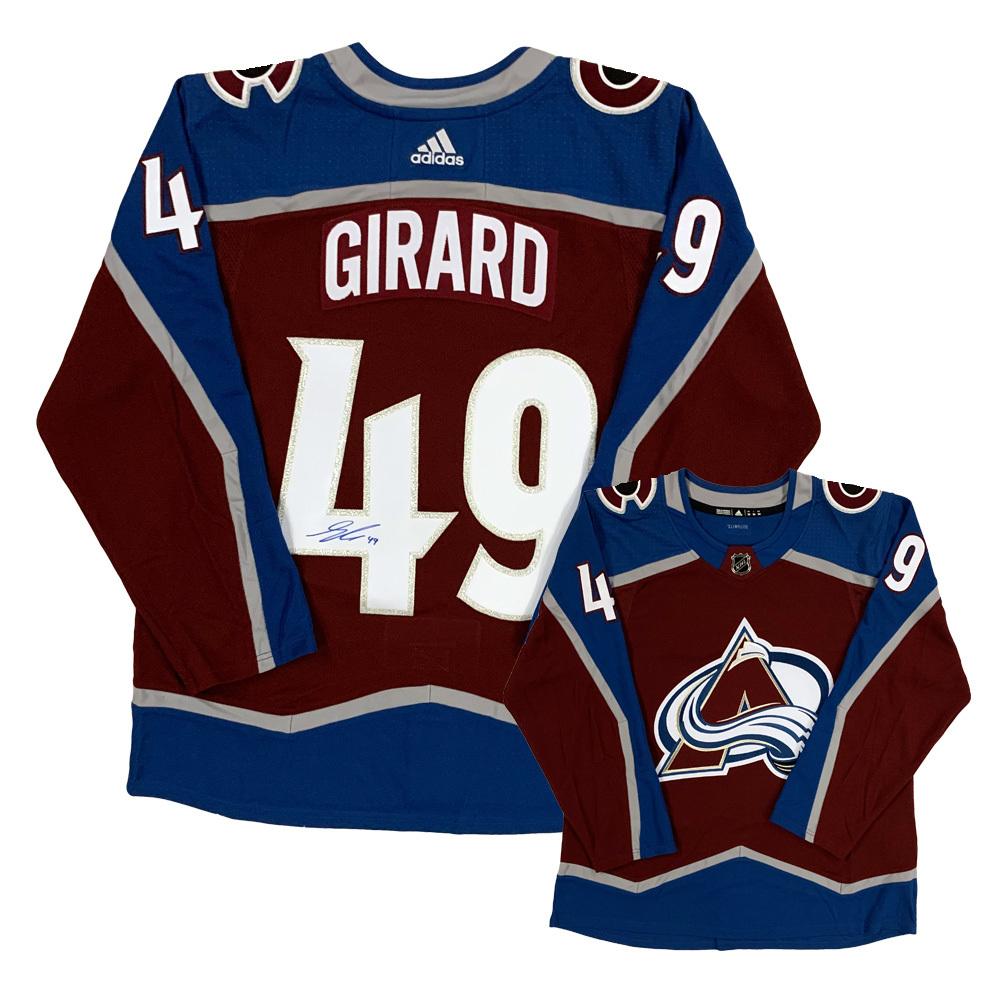 SAMUEL GIRARD Signed Colorado Avalanche Red Adidas Jersey