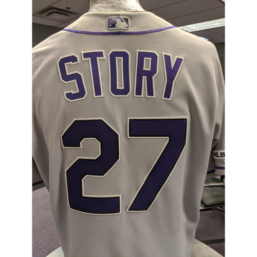 Photo of Colorado Rockies 2019 Game-Used Jersey: Trevor Story