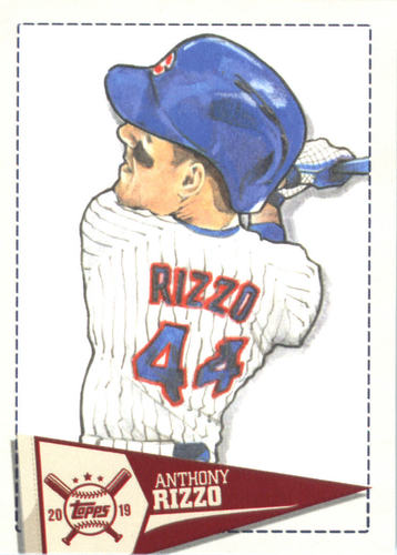 Photo of 2019 Topps Big League Star Caricature Reproductions #SCRAR Anthony Rizzo