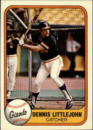Photo of 1981 Fleer #455 Dennis Littlejohn