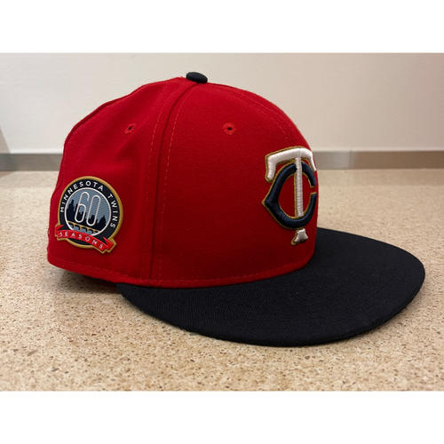 Photo of Minnesota Twins 2020 Team-Issued Home Red Cap - Choose Your Number and Size!