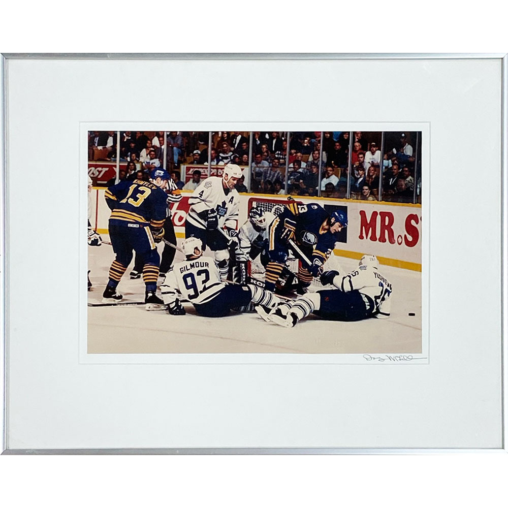 Toronto Maple Leafs vs. Buffalo Sabres Framed 8X10 Photo