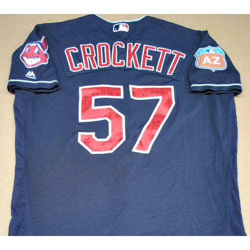 Photo of Game-Used 2016 Spring Training Jersey - Kyle Crockett - Size 46 - Cleveland Indians
