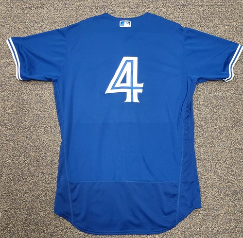 Photo of Authenticated Team Issued 2020 Spring Training Jersey: #4 Luis Rivera. Size 46
