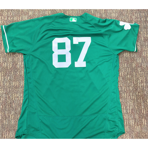 Photo of #87 Detroit Tigers Team-Issued 2019 St. Patrick's Day Jersey (MLB AUTHENTICATED)