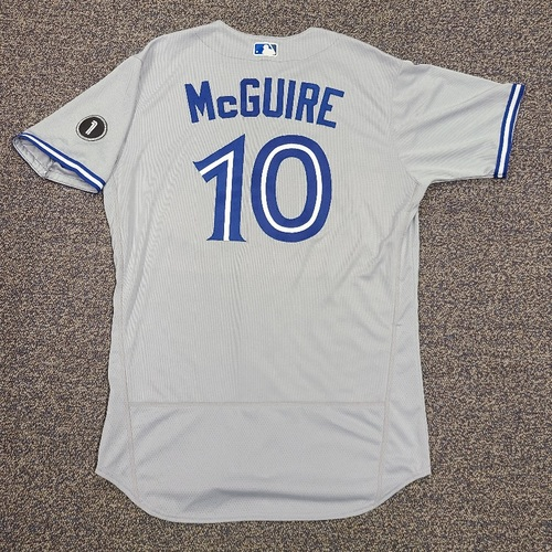 Photo of Authenticated Team Issued Jersey: #10 Reese McGuire (2020 Season). Set 2. Size 46.