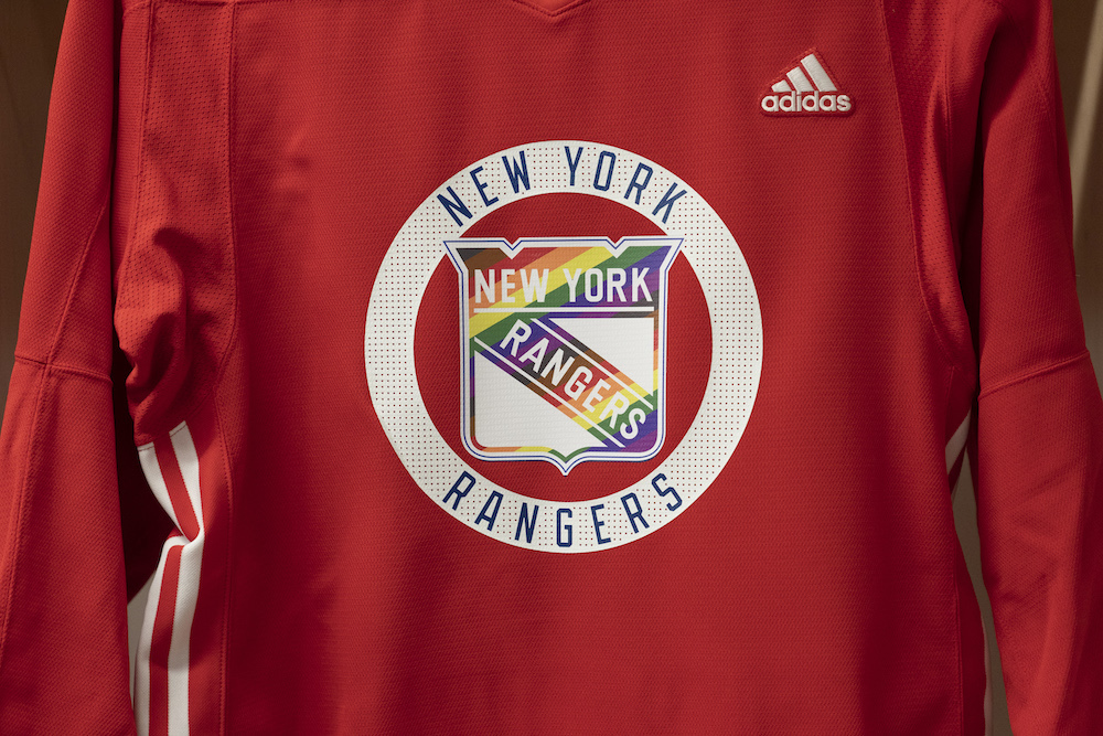 Team Signed Pride Jersey - New York Rangers