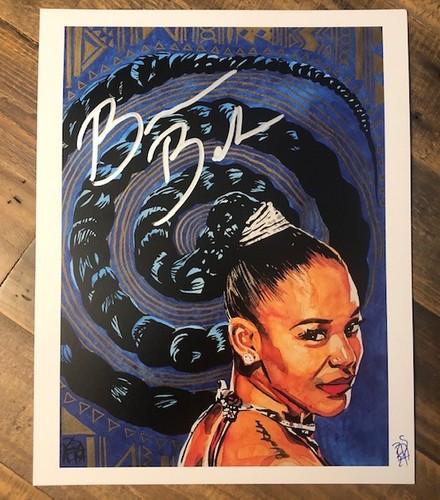 Photo of Bianca Belair SIGNED Rob Schamberger 11 x 14 Art Print (The EST)